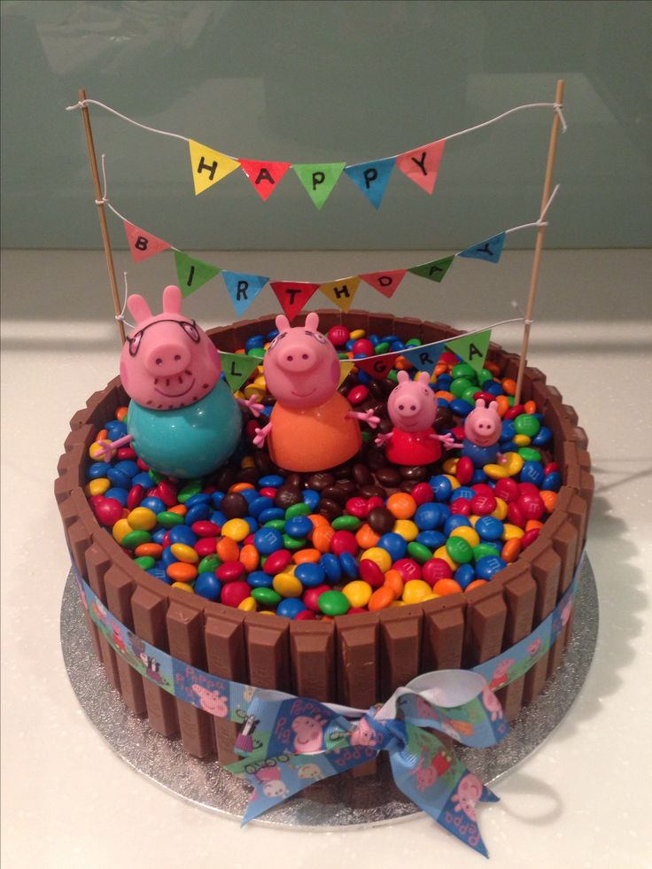 Peppa pig cake for Georgia's 3rd birthday inspiration