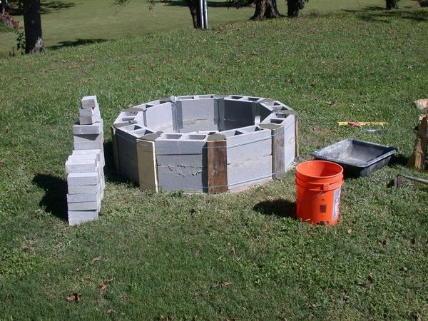 How To Build A Cinder Block Fire Pit Diy Round Cinder Block Fire Pit Ideas Cinder Block Fire Pit Cinder Block Garden Fire Pit