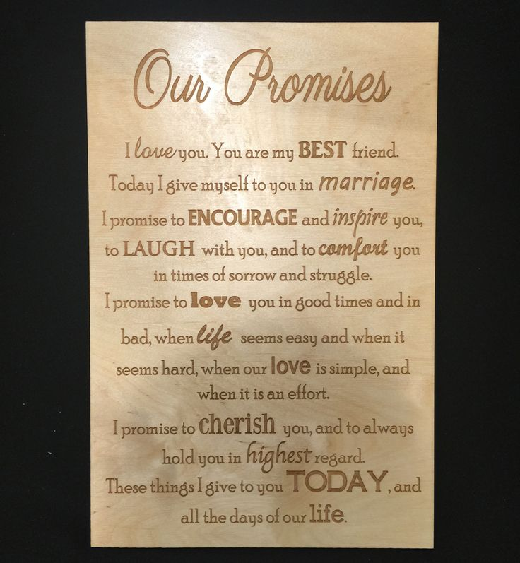 Engrave Your Vows Such A Sweet Reminder Of The Promise You Made To Each Other
