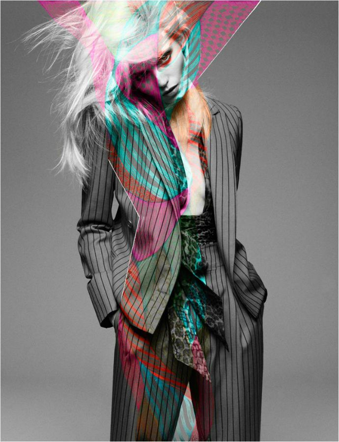 Awesome look ...  Abbey Lee for Número