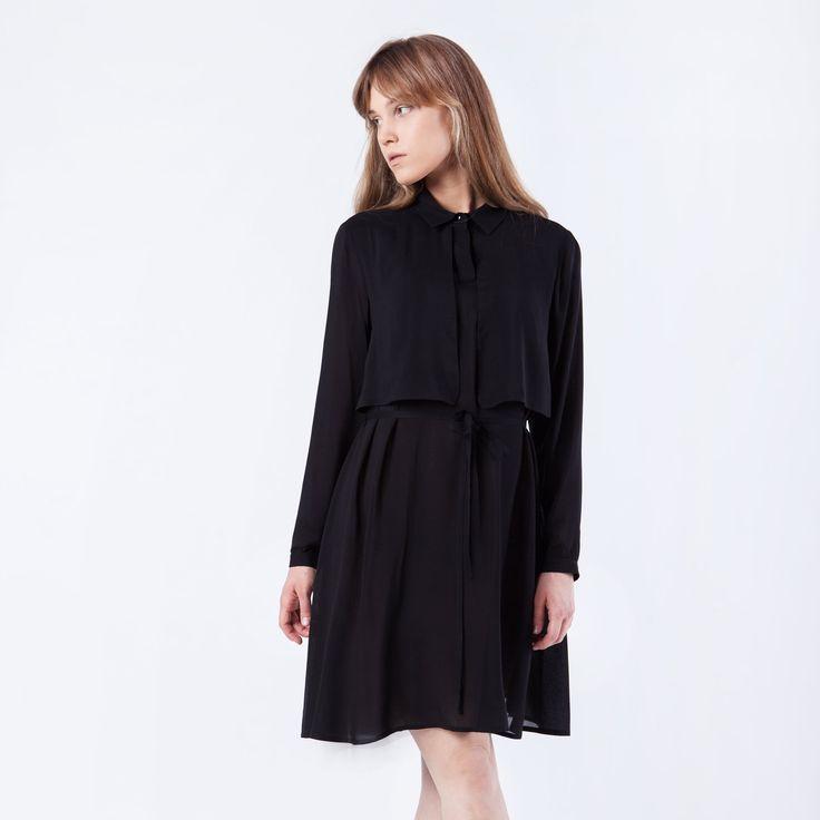 Wing Dress Black Elementy #dress #black #mini #summer #elementy #minimal #classic #polishfashion