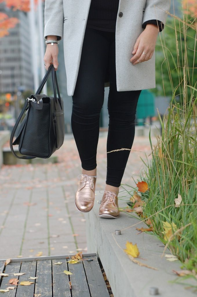 Cole Haan Gramercy oxfords in Rose gold (See more at www.covetandacquire.blogspot.ca)