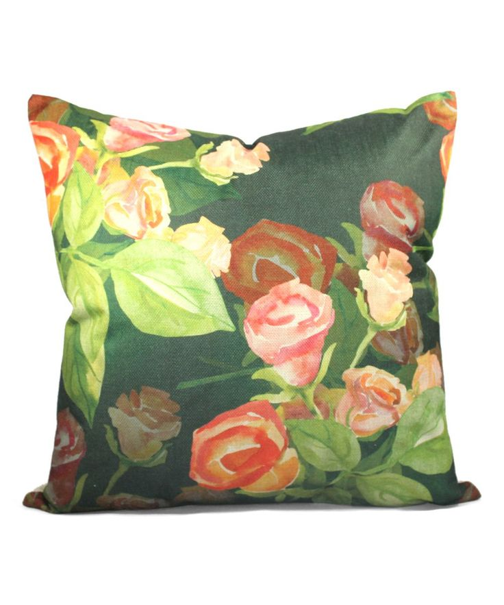 English Roses Cottage Throw Pillow