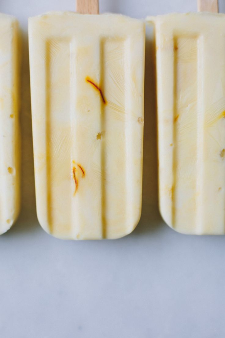Manuka honey + saffron yoghurt pops