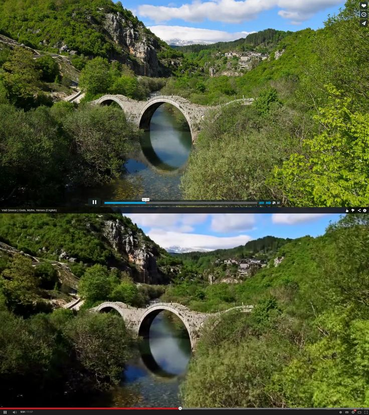 Above: footage by Stian Rekdal. Below: how it appears in Visit Greece tourism video (Screengrabs: Damian Mac Con Uladh)