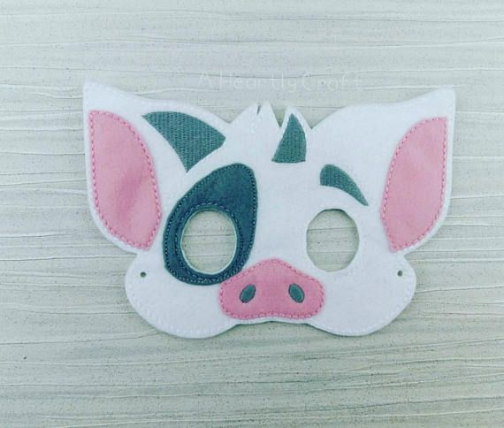 Check out this item in my Etsy shop https://www.etsy.com/uk/listing/516462164/pig-mask-felt-pig-mask-polynesian-pig