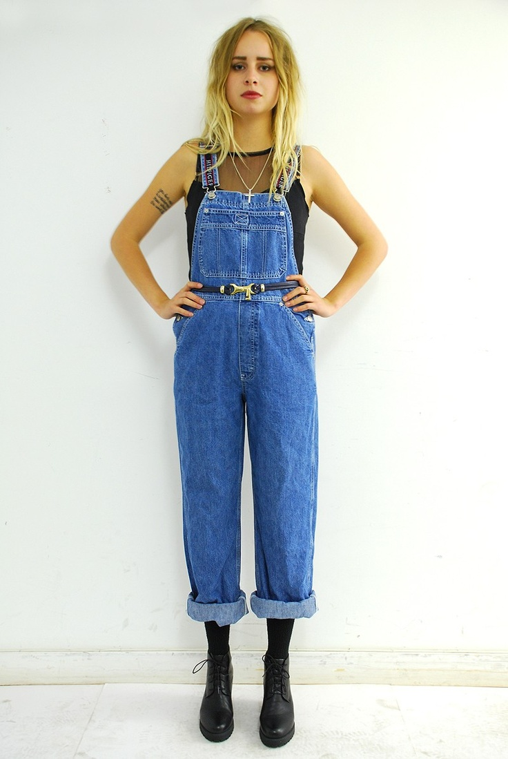 Vintage Tommy Hilfiger dungarees. Click to buy!