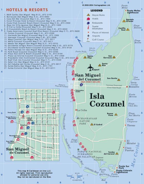 cozumel maps street maps of cozumel
