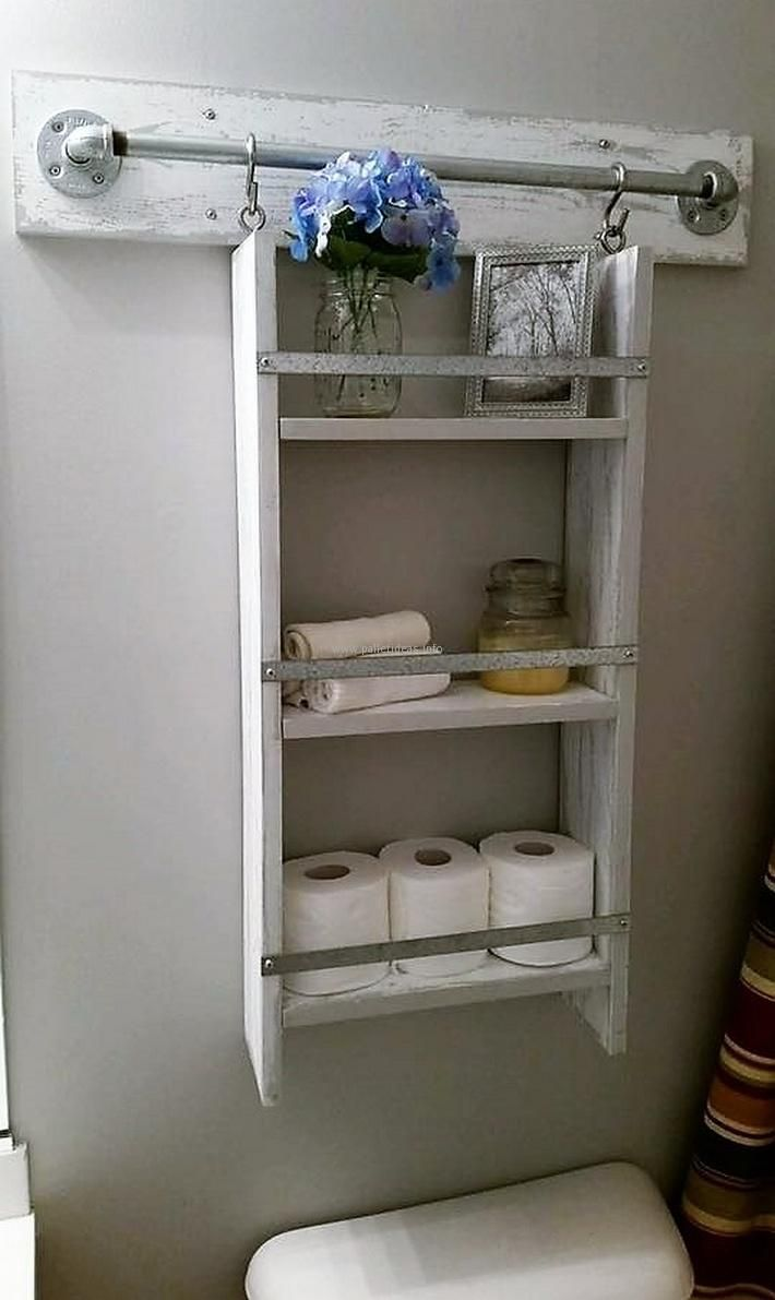 Here is a great idea for the storage in the bathroom, you can create the