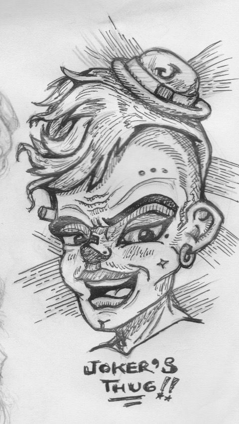 Another Joker's Thug - Doodling & Sketching ;)