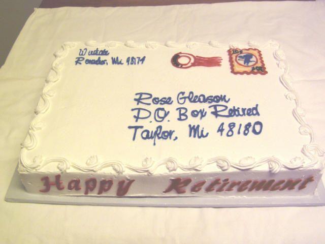 Cake Decoration Ideas For Retirement : 147 best Postal Food images on Pinterest