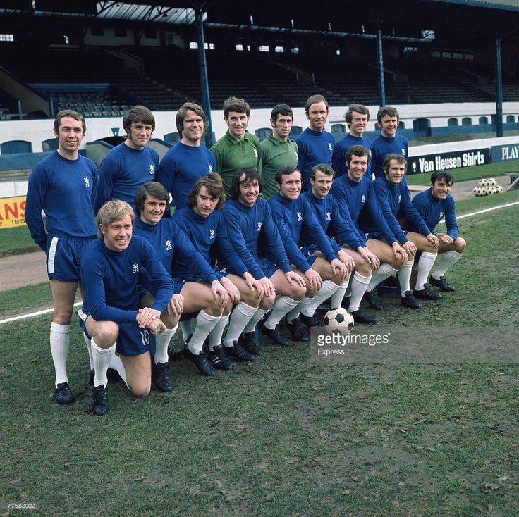 The Chelsea F.C. team for the 1969/1970 season, circa 1970.