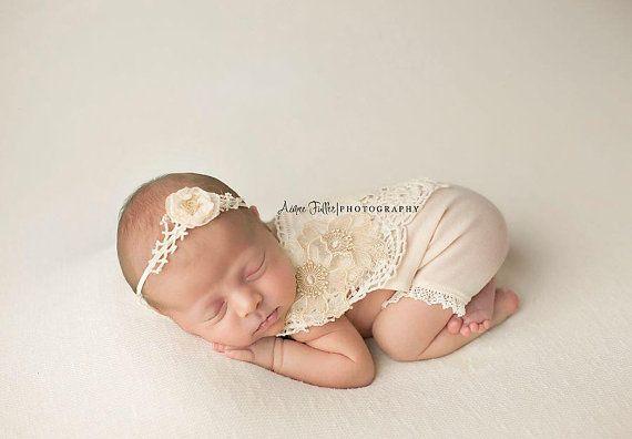 3cc1b188ca2 Newborn Girl Vintage Romper