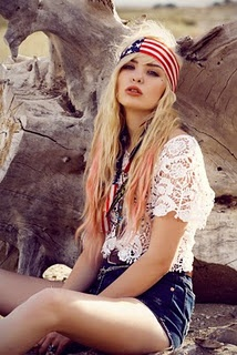 lace and american flag!