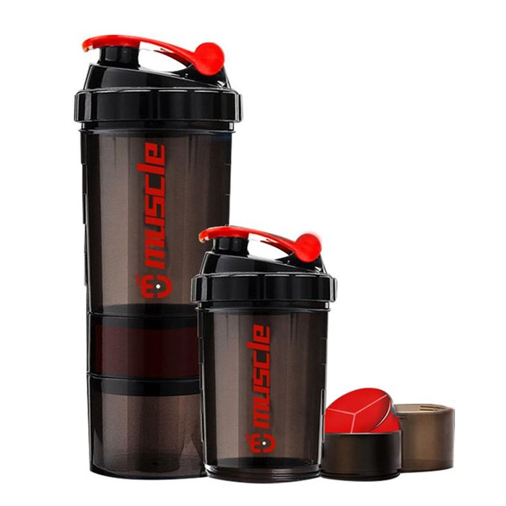 Protein powder shaker bottle fitness Mixer Sports Fitness gym 3 Layers special whey protein shaker milk shaker