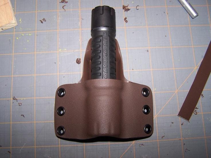 Diy kydex work flashlight holster kydex kydex holster
