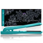 SUTRA 1.25″ FLAT IRON – TURQUOISE  100% Solid Ceramic Magnetized Plates Heat Up to 450F FAR Infrared & Ionic Technology Floating Plates to Customize Style Temperature Control Dual Voltage 360 Degree Swivel Cord #FlatIron #Straightener #HairProducts
