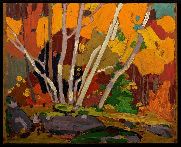 Tom Thomson Catalogue Raisonné | Autumn Birches, Fall 1916 (1916.157) | Catalogue entry