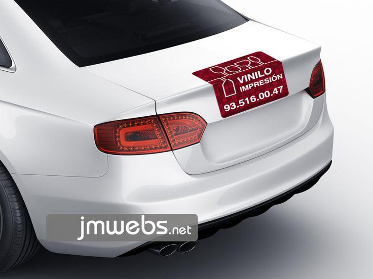 Rotulación de Coches con Vinilo de Impresión. Portón Trasero. Precios en nuestra página web: http://www.jmwebs.net/rotulacion-de-vehiculos-coches.php o Teléfono 935160047