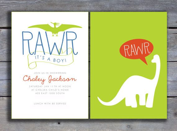 best 25+ dinosaur baby showers ideas on pinterest | dinosaur party, Birthday invitations