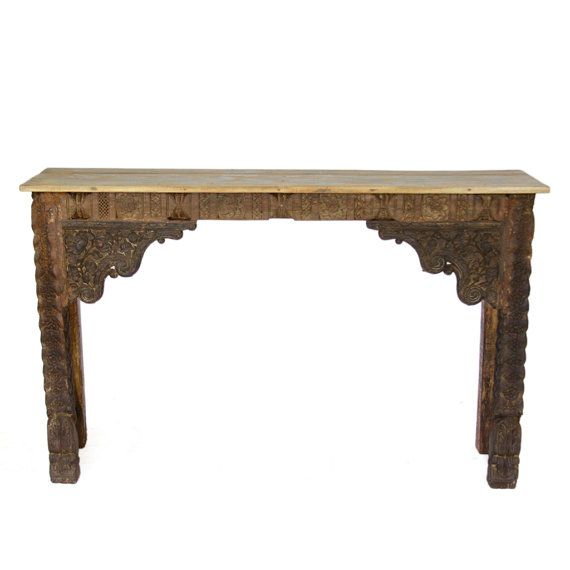 Sale Moorish Carved Console Table / Indian Carved By DeCorPasadena