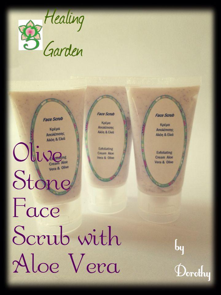 Face scrub with bio Cretan olive oil, olive stone powder and Aloe Vera