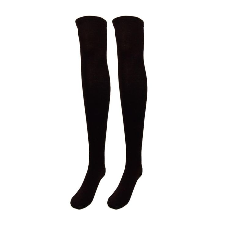 Fashion Design Women girl Over the Knee Socks Thigh High Thick Socks Stripe Like Stockings Striped solid color 7 Choice