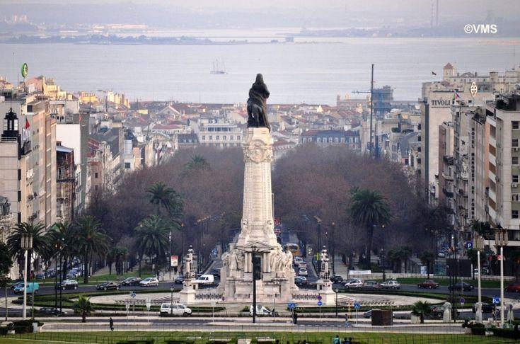Liberty Avenue and Statue of Marquês de Pombal, Lisbon