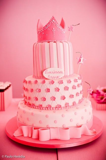 Birthday Cake Pictures Pink : pink princess cake Pretty Girly Wants Pinterest