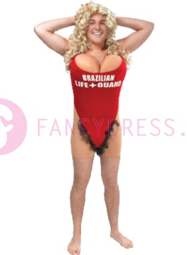 Baywatch Pamela Costume 18 +  This great mistake costume is perfect for a bachelor party, baywatch theme party or if you just have a tremendous fan of Pamela Anderson are.  This costume consists of: A everywhere with a red swimsuit with big breasts, and a stuck skin-colored shorts with dark pubic hair that sticks.  http://www.feestkleding-fancydress.nl/volwassenen/grappige-kostuums/life-guard-kostuum.html