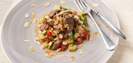 Preicurry met reepjes rundvlees