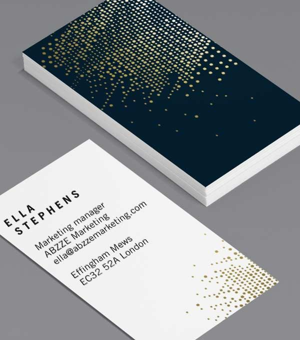 tailored collection business card designs gold foil spot uv templates