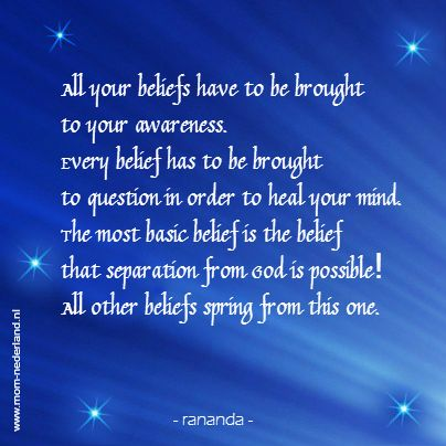 rananda; healing of the mind