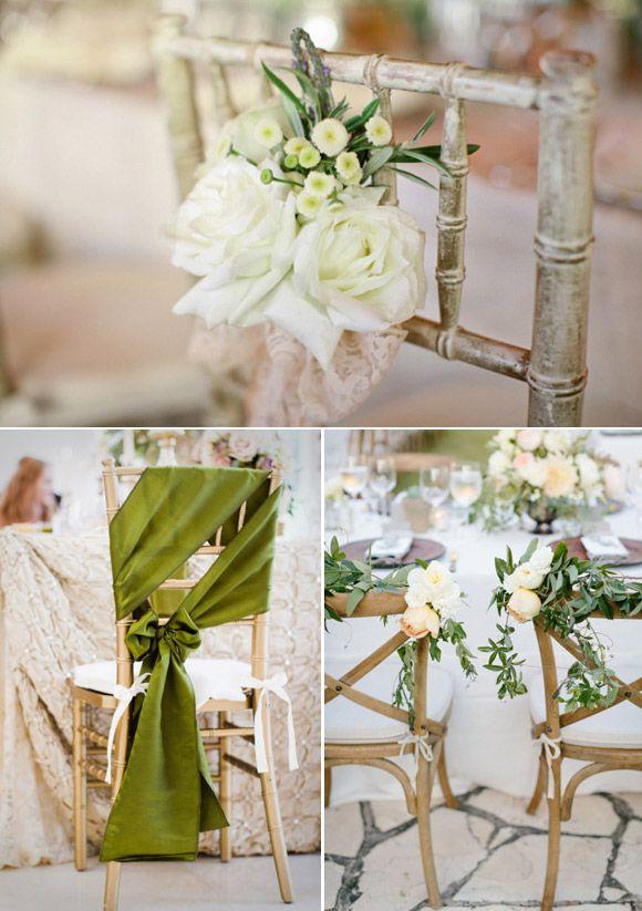 ideas para decorar las sillas de la boda en tonos nude