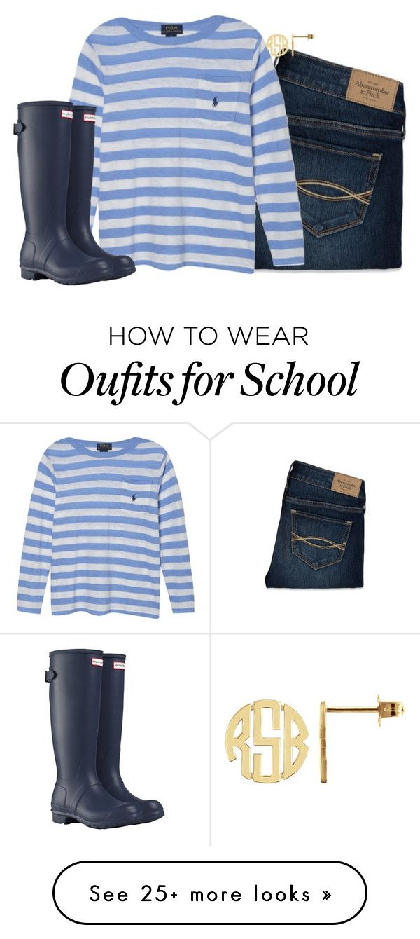 """No school today and the Broncos won!!!!"" by keileeen on Polyvore featuring Abercrombie & Fitch, Ralph Lauren, Hunter, women's clothing, women, female, woman, misses and juniors"