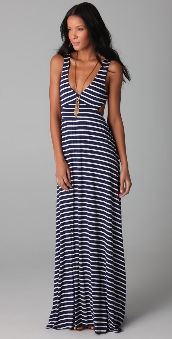 Stripe Cutout Dress