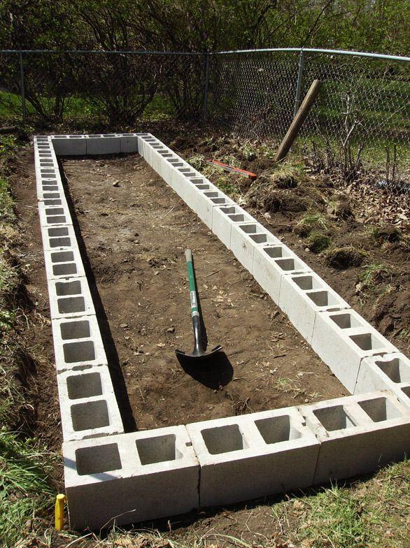 jardim de horta e pomar : jardim de horta e pomar:Blocos de concreto, Canteiros de horta and Blocos de concreto on