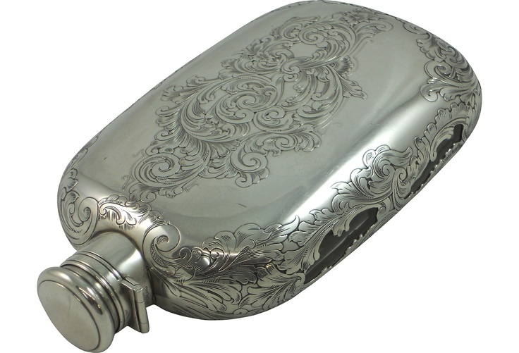 Antique Sterling Flask.  I don't see myself using this, but in my Victorian dreamworld, I would.  And there would be laudanum in it.