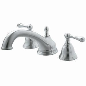 322049c90e269 Pegasus F Shape Spout 2-Handle Deck-Mount Roman Tub Faucet in Brushed  Nickel-FR2B5001BN - The Home Depot
