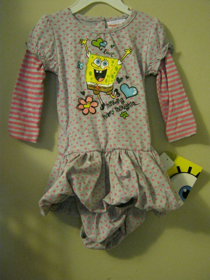 new Nickelodeon Spongebob happy thoughts dress 18 months cool infants 2 pc #Nickelodeon #Everyday
