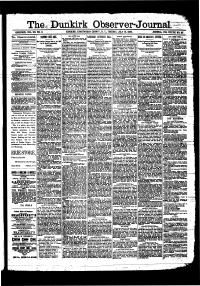CHAUTAUQUA COUNTY - The Dunkirk observer-journal. (Dunkirk, N.Y.) 1886-1889 - NYS Historic Newspapers
