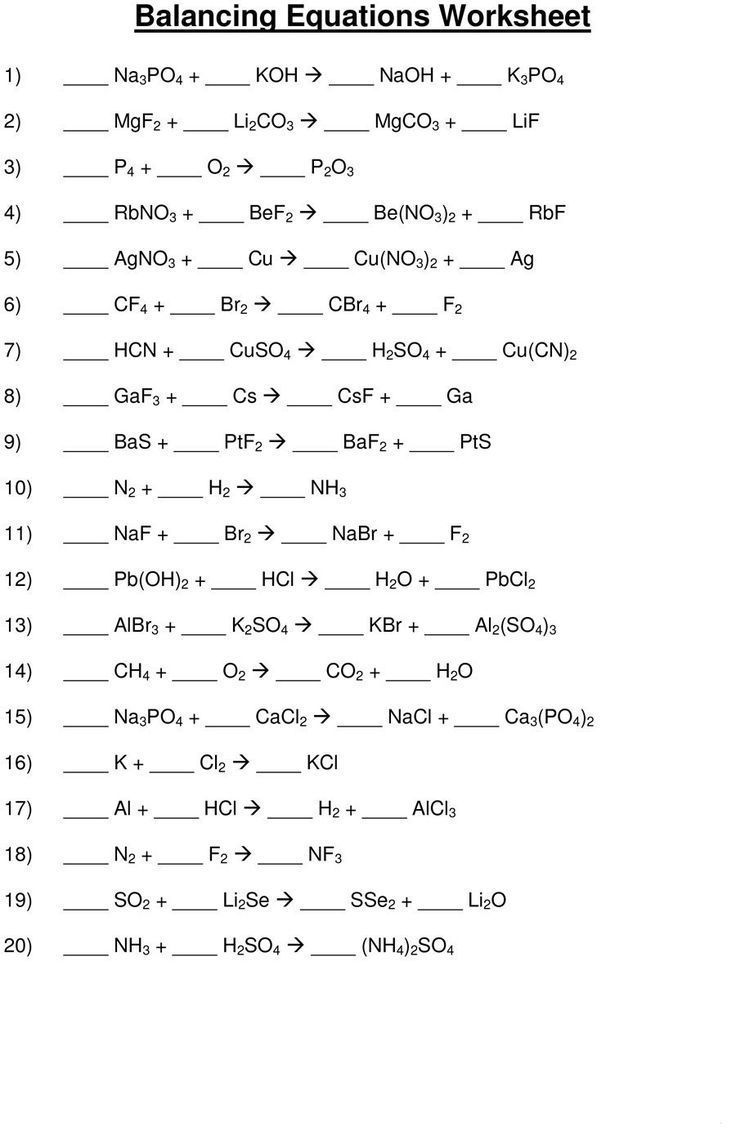 49 Balancing Chemical Equations Worksheets With Answers In 2020 Balancing Equations Chemical Equation Balancing Equations Chemistry