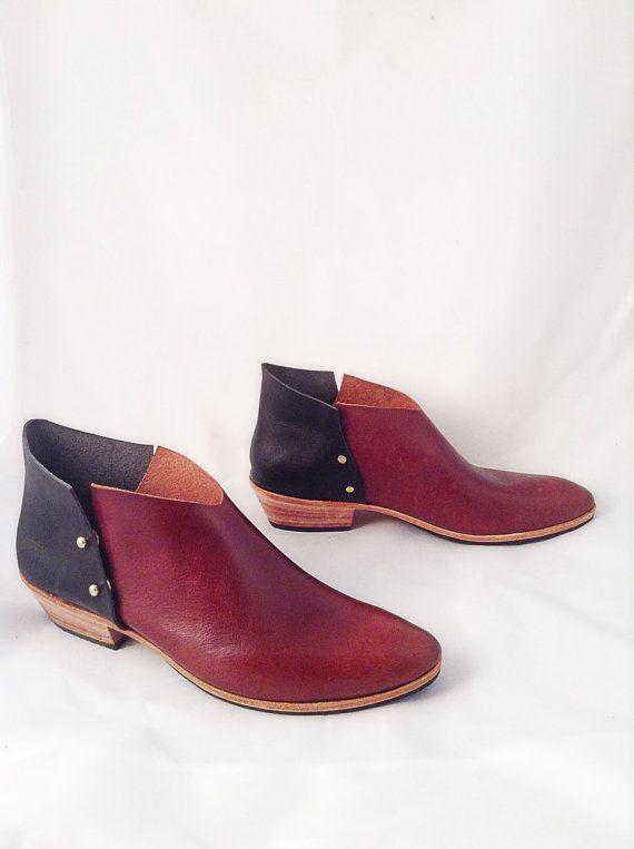 The Danthu AMB BVT Combo~ Handmade Womens Leather Shoes ~ 2 color handmade Boots~ petite thru large sizes available