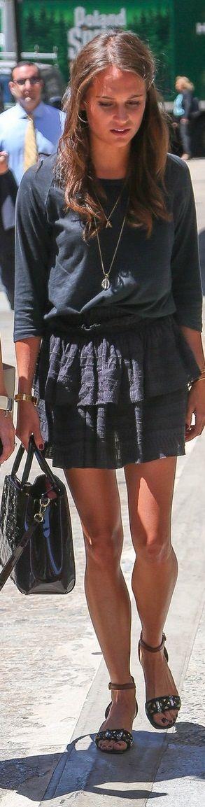 Alicia Vikander Off Duty Street Style Inspiration