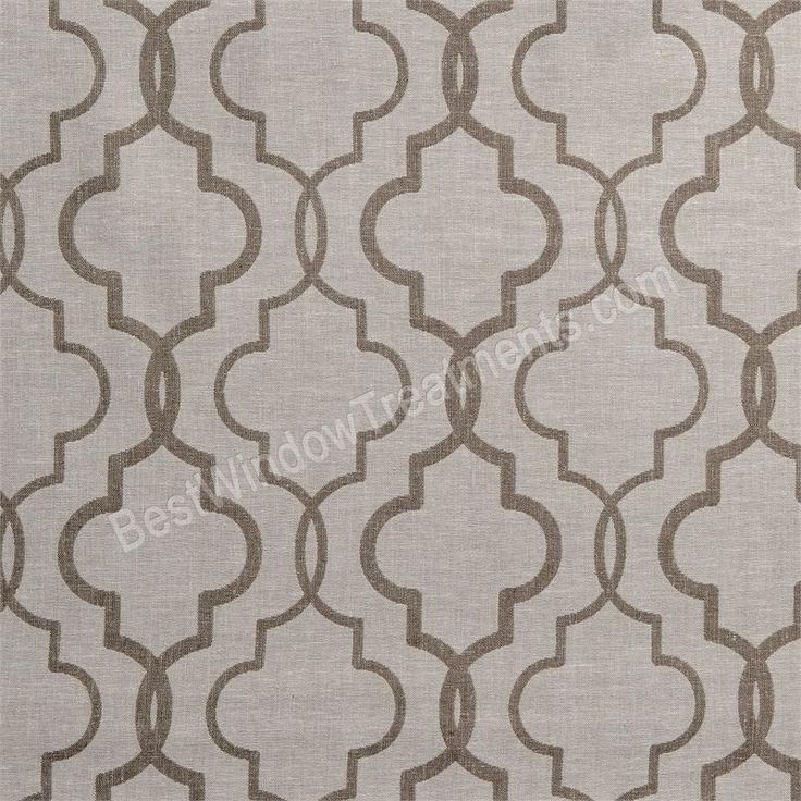 "Azure Java taupe color and Linen Panels | 108"" inch or 120"" inch curtains for living room/great room : Moroccan tile pattern"