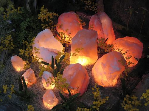 Himalayan salt candles make an awesome ?fire pit.? :-) Witchy, Pagan, Heathen, Native ...