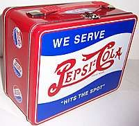 Pepsi Cola Soda Retro Old Style Metal Lunch Box