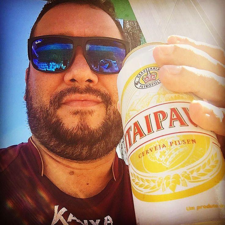 Final de tarde com uma Loira gelada kkkkk. Amooooooo cerveja   #cervejagelada #itaipava #ursoslindosdobrasil #barradesaomiguel #barba by marcellwagner