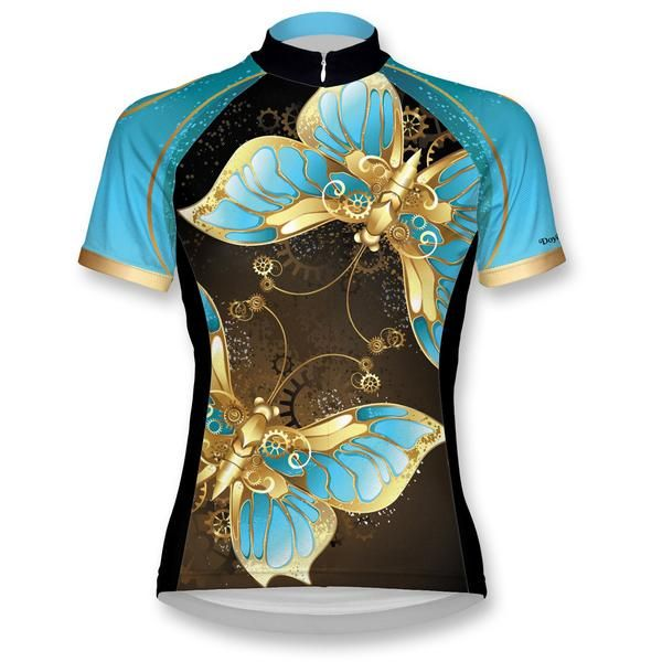 Steampunk Butterfly Women's Cycling Jersey - TeamEstrogen.com