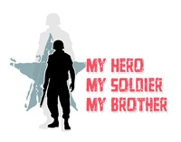 "My hero. My soldier. My brother. Yep, I'm a proud US Army sister of my deployed ""little"" brother."